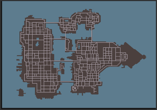 GTA: Chinatown Wars Map