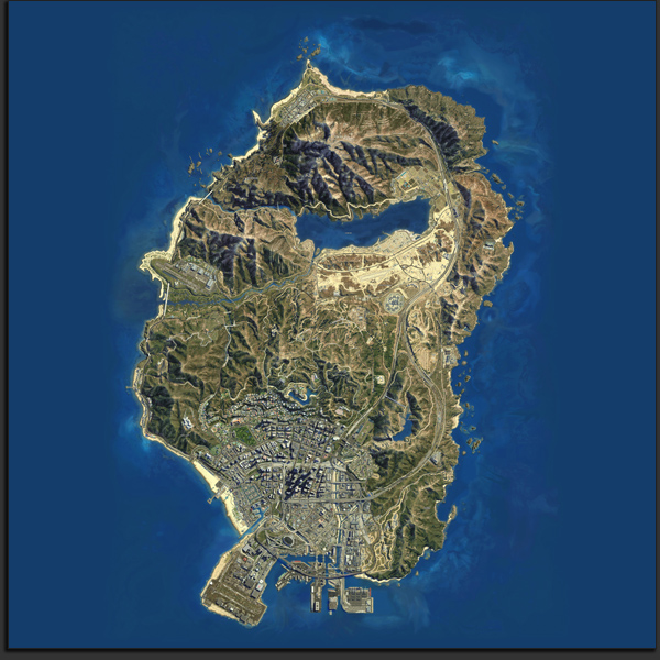 GTA V Map - Satellitenansicht