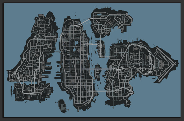 GTA IV Map