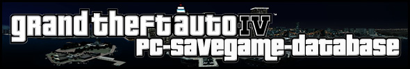GRAND THEFT AUTO IV: PC-SAVEGAME-DATABASE