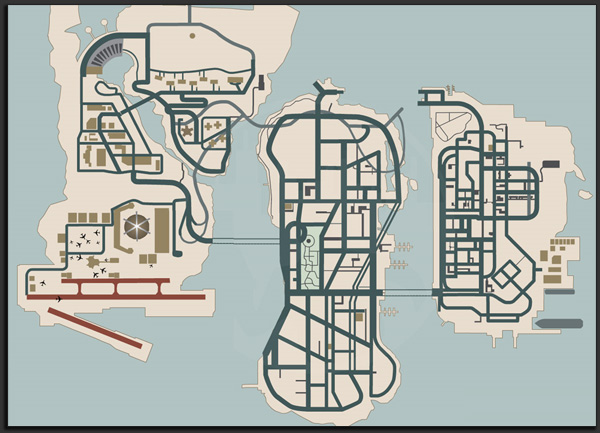 GTA: Liberty City Map