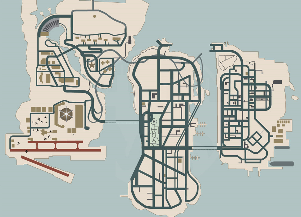 Grand Theft Auto Liberty City Stories Map Gta: liberty city map