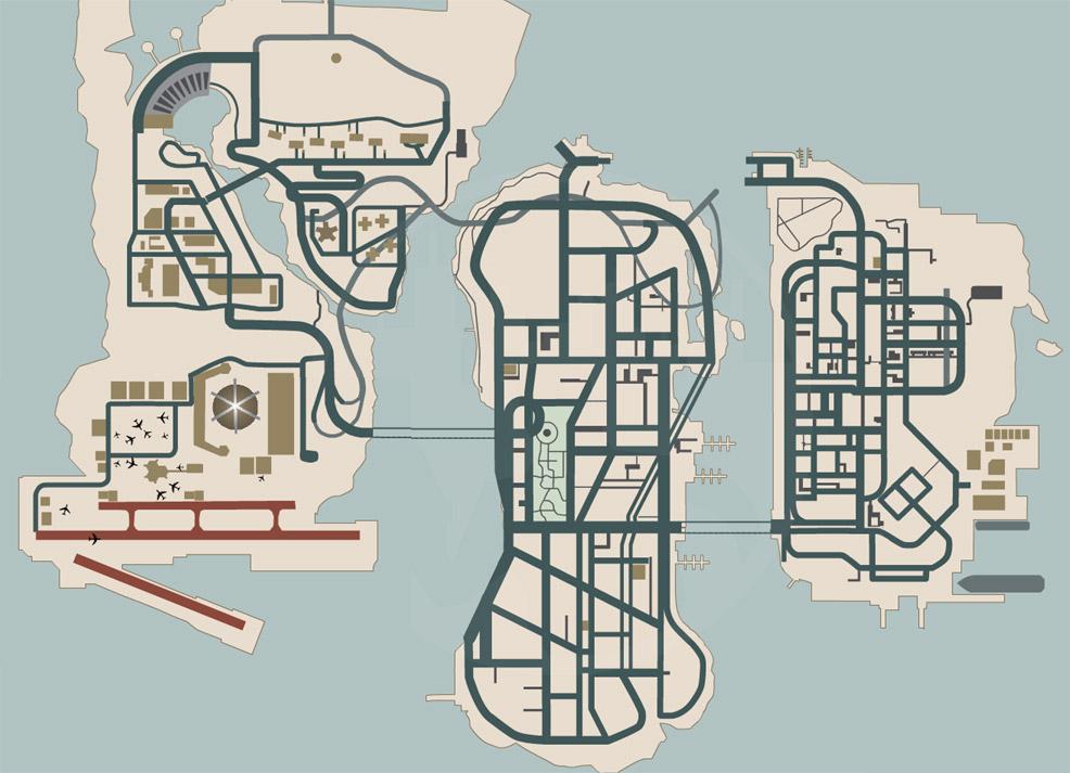 Map (GTA: Liberty City Stories) - GTAvision com - Grand Theft Auto