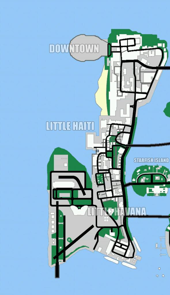 Map (GTA: Vice City) - GTAvision com - Grand Theft Auto News