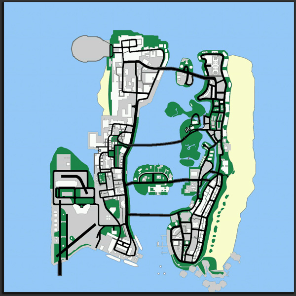 GTA: Vice City Map