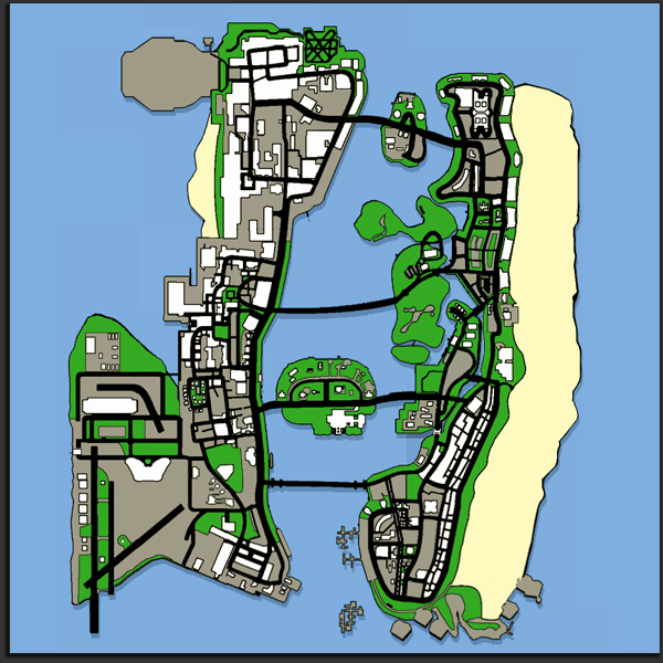 GTA: Vice City Stories Map