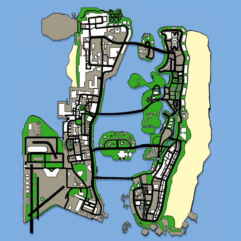Map (GTA: Vice City Stories) - GTAvision com - Grand Theft