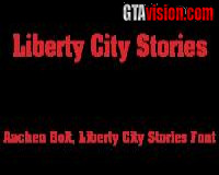 "Liberty City Stories Font Schriftart - ""Aachen Bolt"""