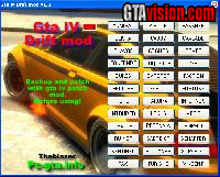 Download: GTA IV Drift Mod v1.0 | Author: theblazer