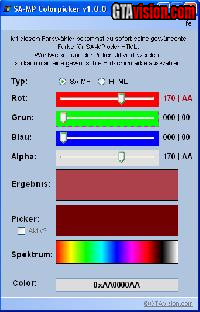 Download: SA-MP Colorpicker v1.1.0 | Author: Rafioso
