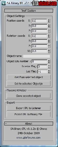 San Andreas Binary IPL 3ds Max Script v0 1b (GTA: San Andreas